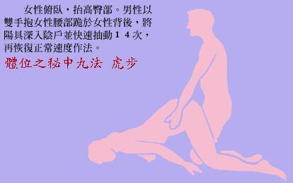 体位之秘中九法:虎步_素女经房中九术(全部图片)配文第2张