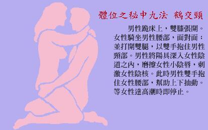 体位之秘中九法:鹤交头_素女经房中九术(全部图片)配文第8张