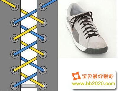 鞋带怎么系好看?鞋带的系法步骤图解第1张