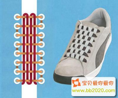 水管式系法_鞋带怎么系好看?鞋带的系法步骤图解第6张