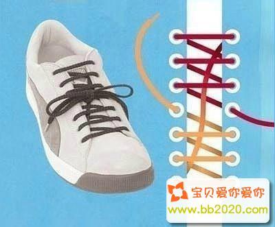 偶遇系法_鞋带怎么系好看?鞋带的系法步骤图解第9张