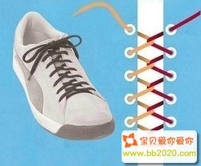 错综系法_鞋带怎么系好看?鞋带的系法步骤图解第11张