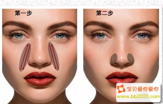 鼻翼肥大怎么缩小?缩小鼻翼的按摩方法图解第1张