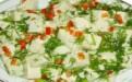 香椿芽拌豆腐营养晚餐的做法