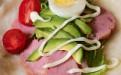 简单易学的营养美味爱心早餐:果蔬鸡蛋卷饼(图)